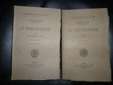 SCRITTORI D' ITALIA MERLIN COCAI LE MACCHERONEE   LATERZA 1927   1928