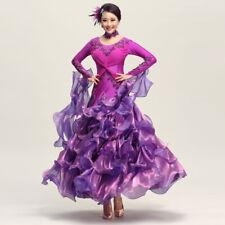 Latin Ballroom Competition Dance Dress Modern Waltz Tango Standard Dress#NN049