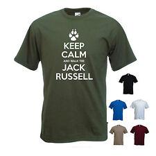 « mantener la calma y a pie el Jack Russell' Para Hombre divertida Mascota Perro Regalo de Superdry.