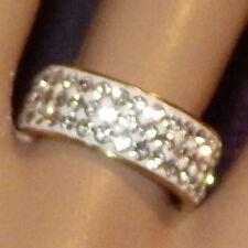 New Gold Rings Titanium Steel Band Rhinestone Crystal Men's Women's Statement
