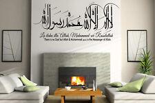 Kalima Calligraphy, translation, Islamic Wall Art Sticker Shahada, Swarovski