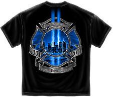 FIREFIGHTER T-SHIRT FIREMEN FIRE RESCUE FIRE DEPT S-3XL MENS BLACK 9/11/2001 NEW