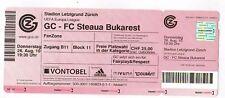 Ticket    Europa League 10/11   GR.ZÜRICH - ST.BUKAREST