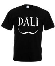 T-SHIRT UOMO BAFFI SALVADOR DALì dali OMAGGIO PITTORE maglietta fashion moda