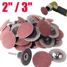 """2""""/3"""" R Type Roloc Discs Roll Lock Grinding Discs Sanding Pads Wheel 24-320 Grit"""