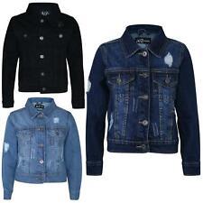 55223e3a3 Kids Boys Denim Jacket Designer Ripped Jeans Fashion Jackets Coat Age 3-13  Years