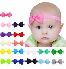 Stirnband Schleife Haarband Baby Mädchen Farbwahl Stretch Haarschmuck