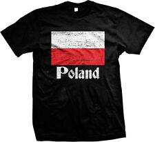 Poland Distressed Country Flag - Polish Pride  Mens T-shirt