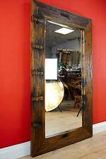 Altholz Spiegel Teak Holz Wandspiegel Badezimmer Flur rustikal Massiv Vintage