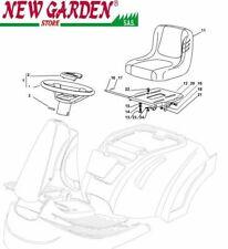 Vista desarrollada asiento e volante tractor XF130HD 72cm CASTELGARDEN 2002-2013