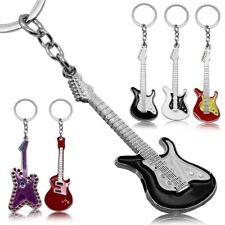 Llavero Guitarra Música Bass Rock Anillo Colgante Pendant Keyfob Keychain Negro