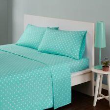 Modern Seafoam Green & White Polka Dot Cotton Sheet Set