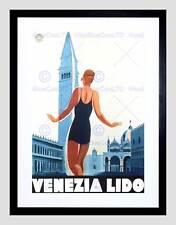 Pubblicità DUDOVICH NIZZOLI VENEZIA LIDO PISCINA NUOTO ITALIA VENEZIA ART PRINT b12x5779