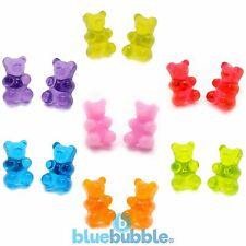Bluebubble MY SWEET SHOP Gummy Bear Earrings Cute Kitsch Kawaii Novelty Retro