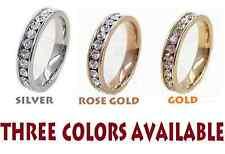 3mm Korean style 3 colors Titanium Steel Classic Design Full zircon womens ring