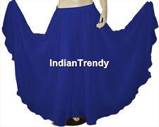 Royal Blue - Chiffon Skirt Belly Dance Boho Gypsy Ethnic 9 Yard Flamenco Jupe