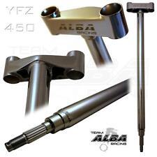 "YAMAHA YFZ 450  04-05  STEERING STEM  +1""  CHROMOLY  CHROMED  ALBA RACING"