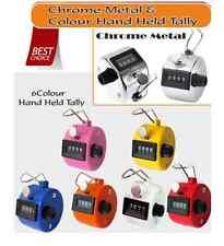 C/Metal & Multi Colour Hand Held Tally Plam Manual Clicker Golf  Counting Tasbih