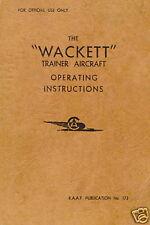 COMMONWEALTH CA-6 WACKET - RAAF PUBLICATION No.173