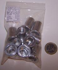 M12 Aluminium Blindnietmutter Flachkopf KB 1-4mm gerändelt Menge nach Wahl ALU