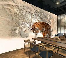 3D Tree Snow Tiger 894 Wallpaper Mural Paper Wall Print Wallpaper Murals UK