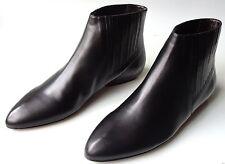new $600 CALVIN KLEIN Collection Ryann black FLAT ANKLE BOOTS 37 7 6.5 6 - BEST