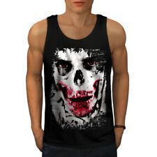Joker Face Esqueleto Calavera Men Camiseta sin mangas Nuevo   wellcoda