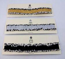 Choker necklace ribbon black white fringe edges adjustable chain lobster clasp