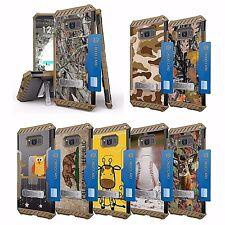 For Galaxy Note 8 Hybrid Tri Shield Kickstand CLIP Armor CAMO IMAGE Case