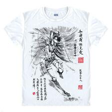 S-2XL Anime Attack on Titan 進撃の巨人 Otaku White Pullover T-Shirt Tops Cosplay#Y93