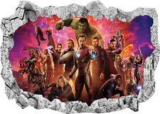 Marvel Avengers Super Heros Hulk 3d Smashed Wall View Sticker Poster Vinyl 950