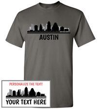 Austin Skyline T-Shirt, Men Women Youth Tank Long Sleeve Personalized Tee TX