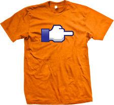 Middle Finger Web Hand Sideways F*ck You Flip Bird Screw Off Like Men's T-Shirt