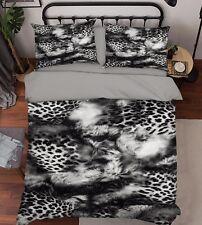 3D Black Animal Texture 47 Bed Pillowcases Quilt Duvet Cover Set Single Queen CA