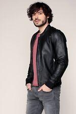 Leather Jacket for Men Black Flight/Bomber Jacket Lambskin Size S M L XL XXL