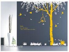 ADESIVI da parete ALBERO FIORE Kids art Murales Decalcomanie Farfalla Vinile DECORS -- D64