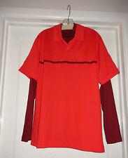 Men's Nike Golf Warp Knit Warm Motion Polo 483292-607 Red $85NWT Sz M Dual Layer