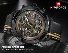NAVIFORCE Watches Top Brand Luxury Waterproof Leather Quartz Man's Wristwatch
