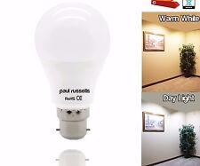 2x Paul Russells LED 5W=40W 7W=60W 12W=100W  BC B22 GLS Lamp Warm/DayLight Bulb