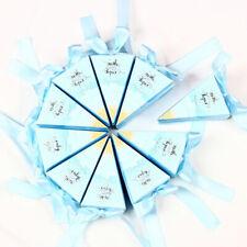 10 Stücke Dreieck Design Candy Boxes Geschenk-Boxen Hochzeitsbevorzugungen