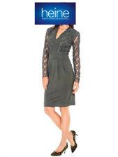Spitzen-Jersey-Kleid B.C. heine. Khaki. NEU!!! KP 79,90 € SALE%%%