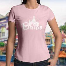 Bride Disney Castle Disneyland Wedding Couple Womens Juniors Top T-Shirt Tee