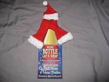 Decorate Bottle Santa Hat & Scarf Gift Wrap Christmas Holiday Seasonal NEW!