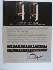 retro magazine advert 1983 FENDER concert , tube