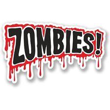 2 X Advertencia Zombie sangre por goteo Pegatina de vinilo Laptop Equipaje de Viaje #4101