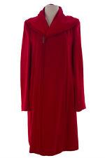 GIORGIO ARMANI Women's Red Oversized Collar Side Zip Coat FAL04J $3,695 NWT