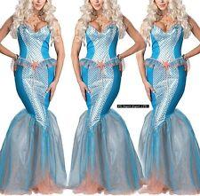 Sirena Vestito Carnevale Donna Ragazza Cosplay Dress Mermaid Costume MECOS01