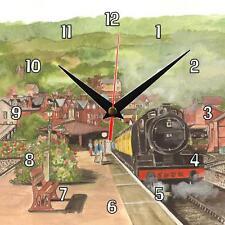 N ° 288 Minehead estación de tren de vapor Sue podbery Reloj De Pared Hecho A Mano Regalo Presente