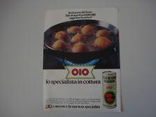 advertising Pubblicità 1981 OLIO OIO