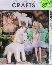 Barbie Doll Flower Fairy Dress Costume Unicorn & Pegasus pattern